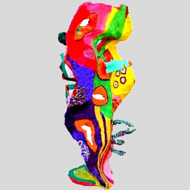 מחול בצבע פסל בטון